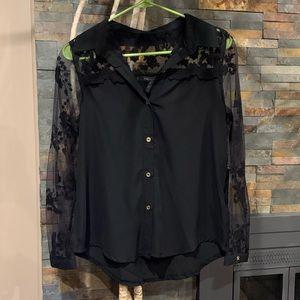 NWT BCBG Max Azria Lace Button Up